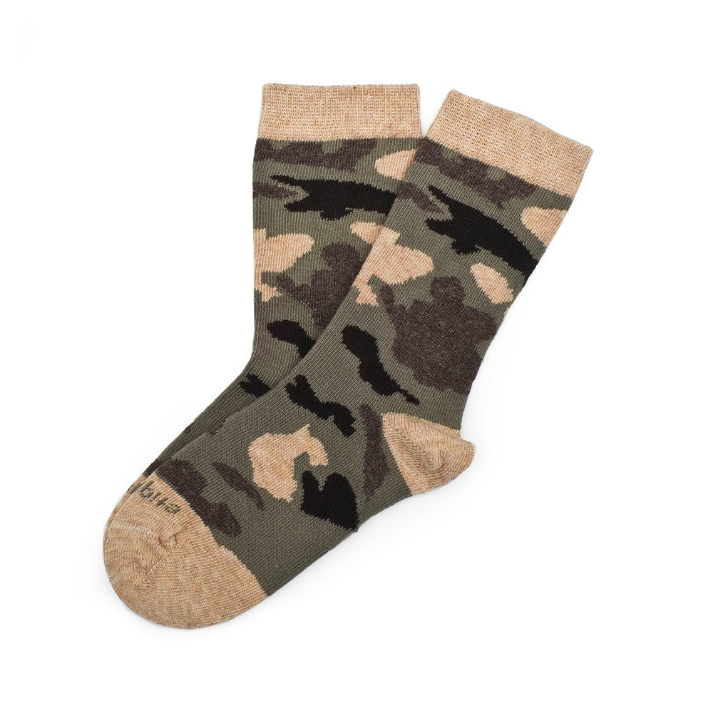 Camouflage - Army Green - Kids Socks - Etiquette - Etiquette Clothiers NA
