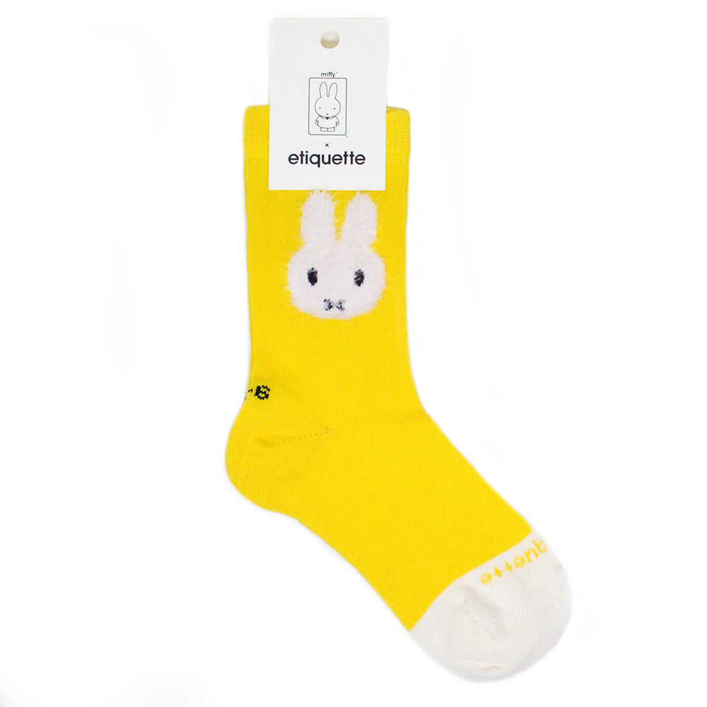 Etiquette x Miffy - Yellow - Kids Socks - Etiquette - Etiquette Clothiers NA