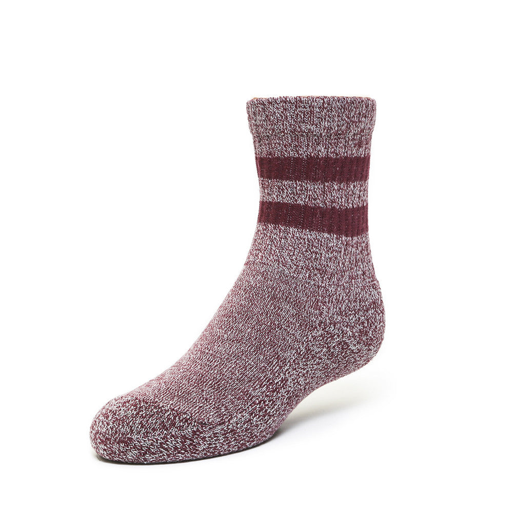 Terry Boot Socks - Bordeaux - Kids Socks - Etiquette - Etiquette Clothiers NA