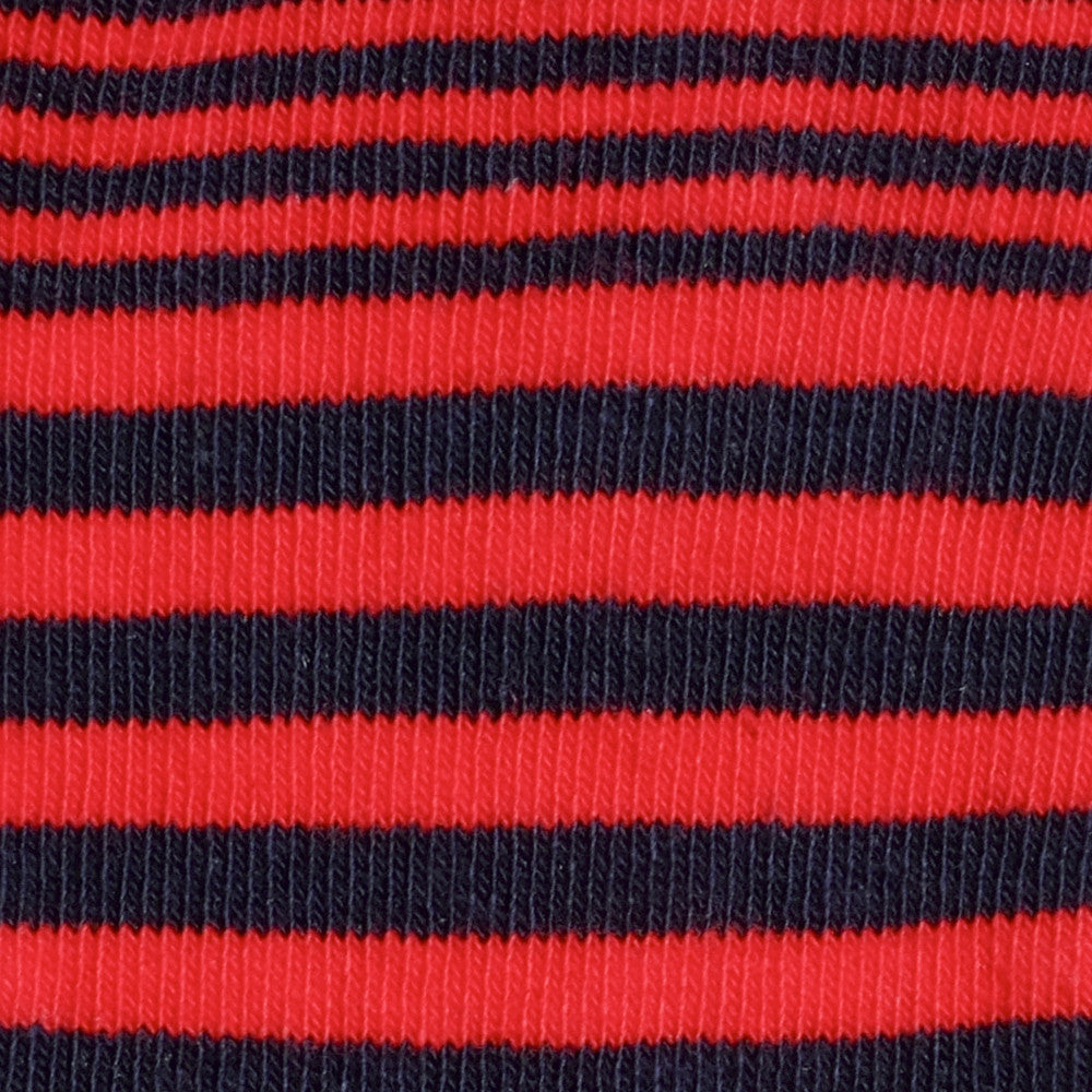 Sailor Stripes - Fire Red - Kids Socks - Etiquette - Etiquette Clothiers NA