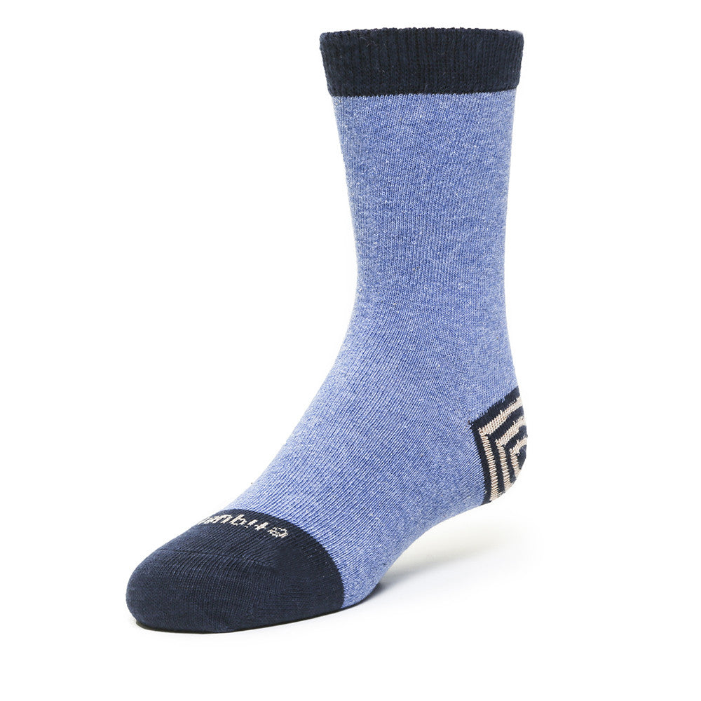 Tri Pop - Blue Heather - Kids Socks - Etiquette - Etiquette Clothiers NA