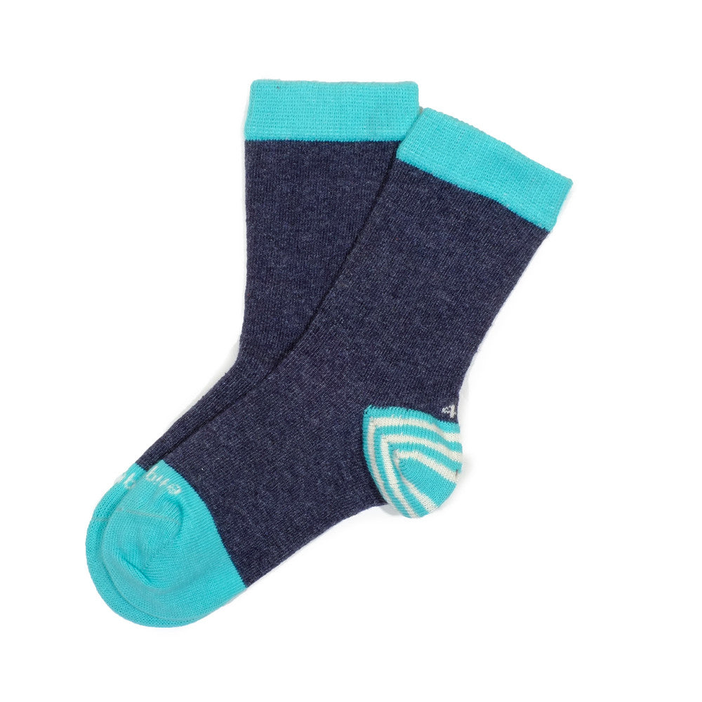 Tri Pop - Charcoal Teal - Kids Socks - Etiquette - Etiquette Clothiers NA