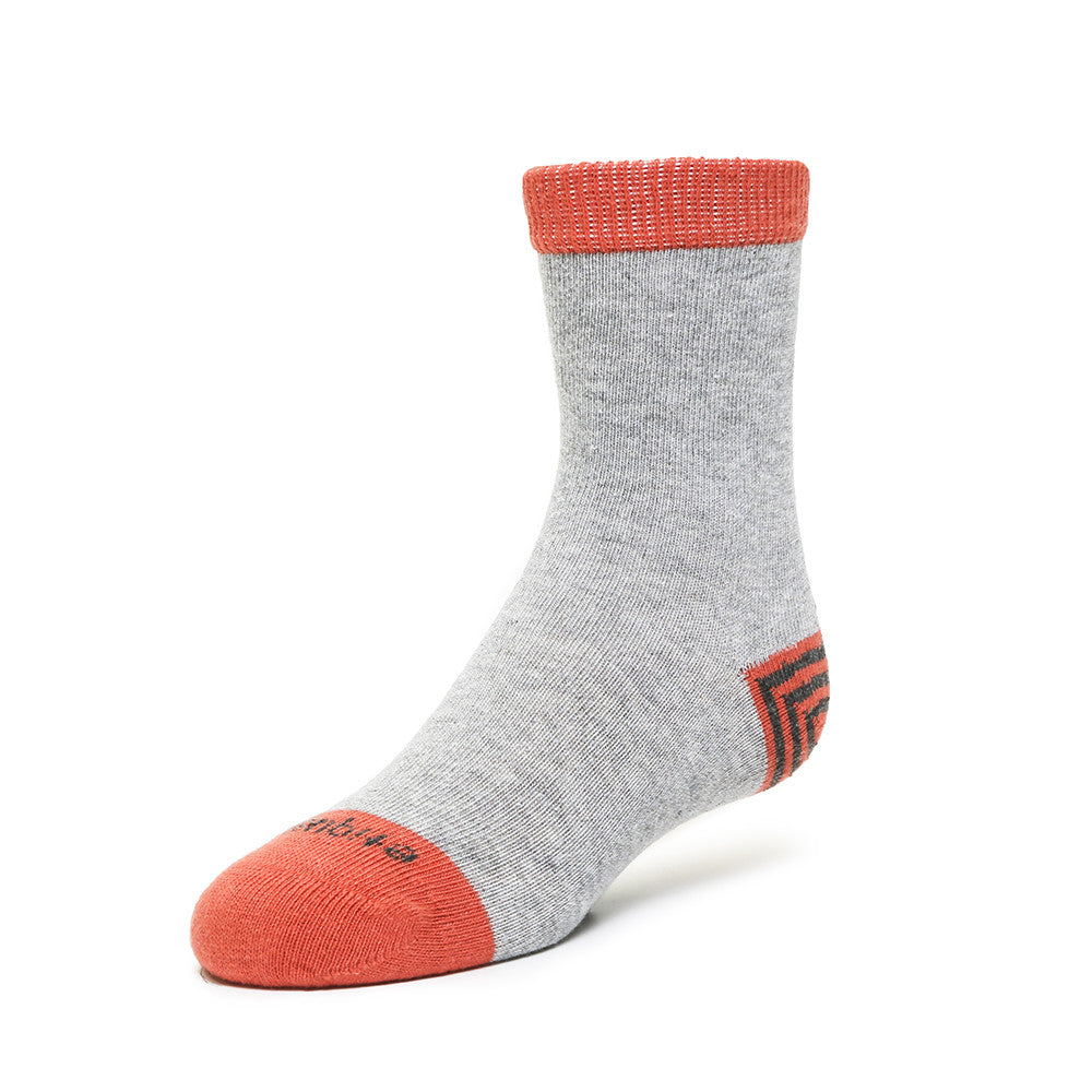 Tri Pop - Heather Grey - Kids Socks - EtiquetteSale - Etiquette Clothiers NA