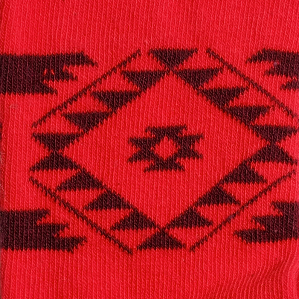 Tribal - Fire Red - Kids Socks - Etiquette - Etiquette Clothiers NA