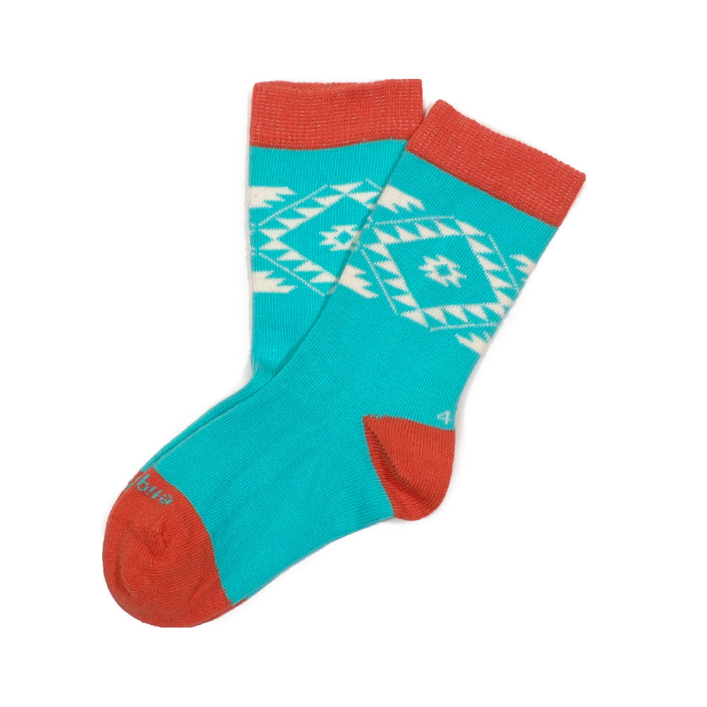 Tribal - Teal - Kids Socks - Etiquette - Etiquette Clothiers NA