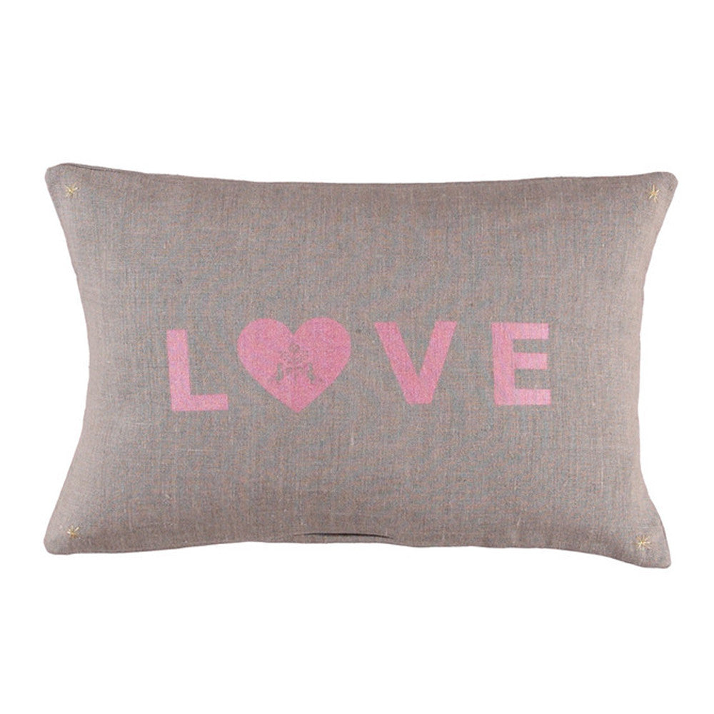 Love cushion coconut pink - Atsuyo et Akiko - Accessories - Etiquette - Etiquette Clothiers NA