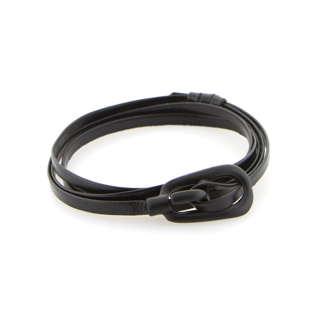 Black Gamle leather wrap band - Miansai -  - global.etiquetteclothiers.com - global.etiquetteclothiers.com