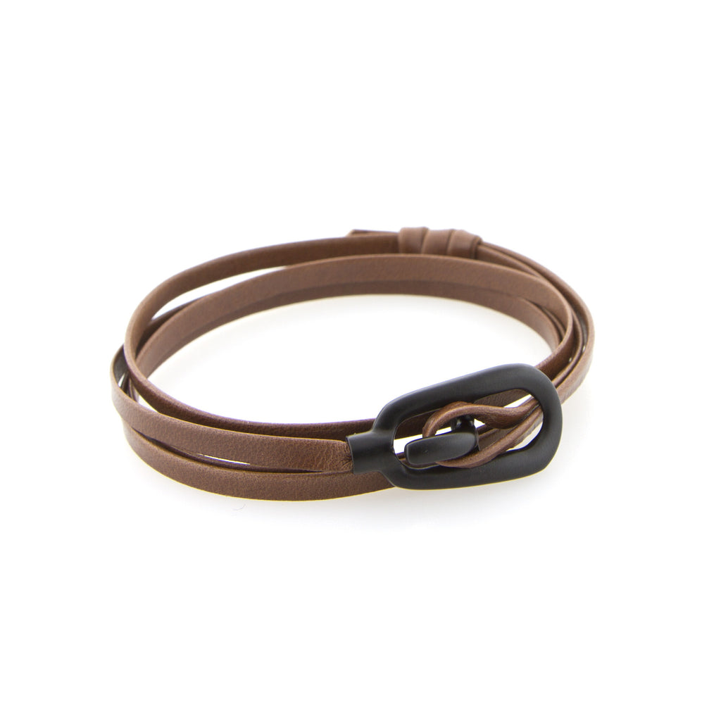 Brown Gamle leather wrap band - Miansai -  - global.etiquetteclothiers.com - global.etiquetteclothiers.com