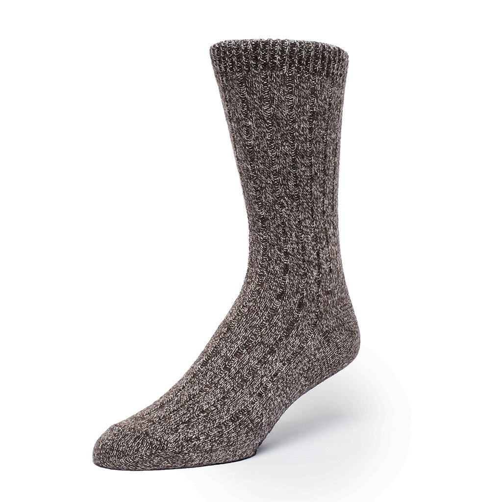Cashmere Boot Ribbed - Brown / Sand
