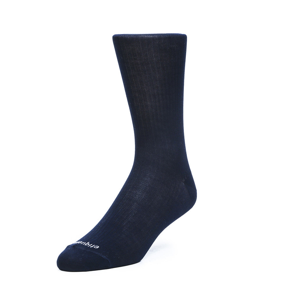 Basic Luxuries Ribs - Navy - Socks - Etiquette - Etiquette Clothiers NA