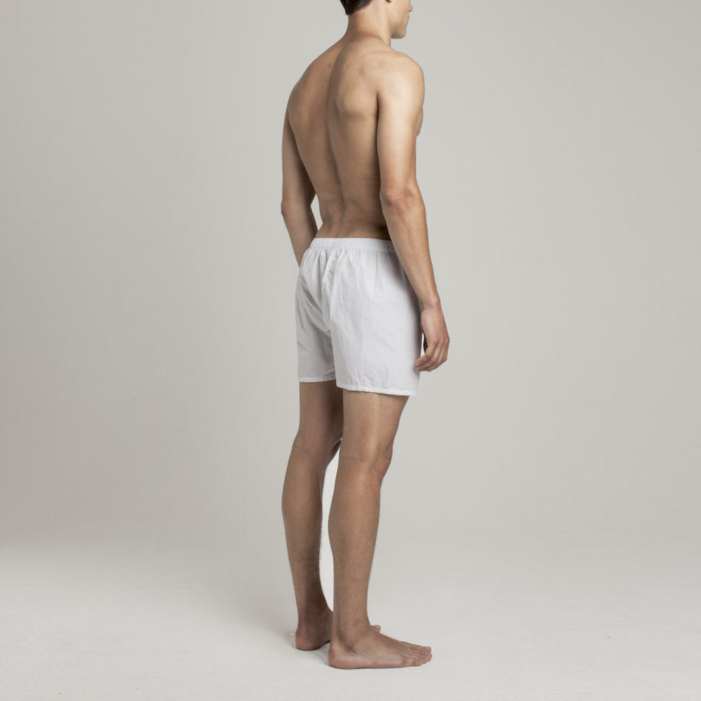 Luxury Boxer Shorts - Graph Check Arctic Blue