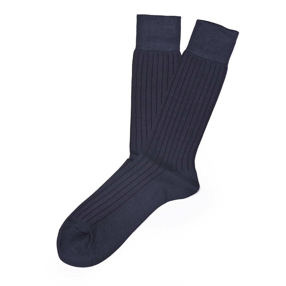 Royal Rib - Navy - Socks - Etiquette - Etiquette Clothiers NA