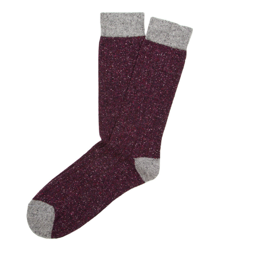 Tweed Rib - Bordeaux - Socks - Etiquette - Etiquette Clothiers NA