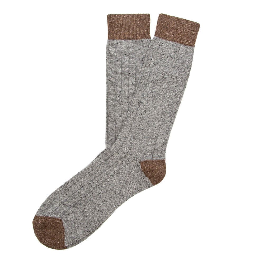 Tweed Rib - Grey - Socks - Etiquette - Etiquette Clothiers NA