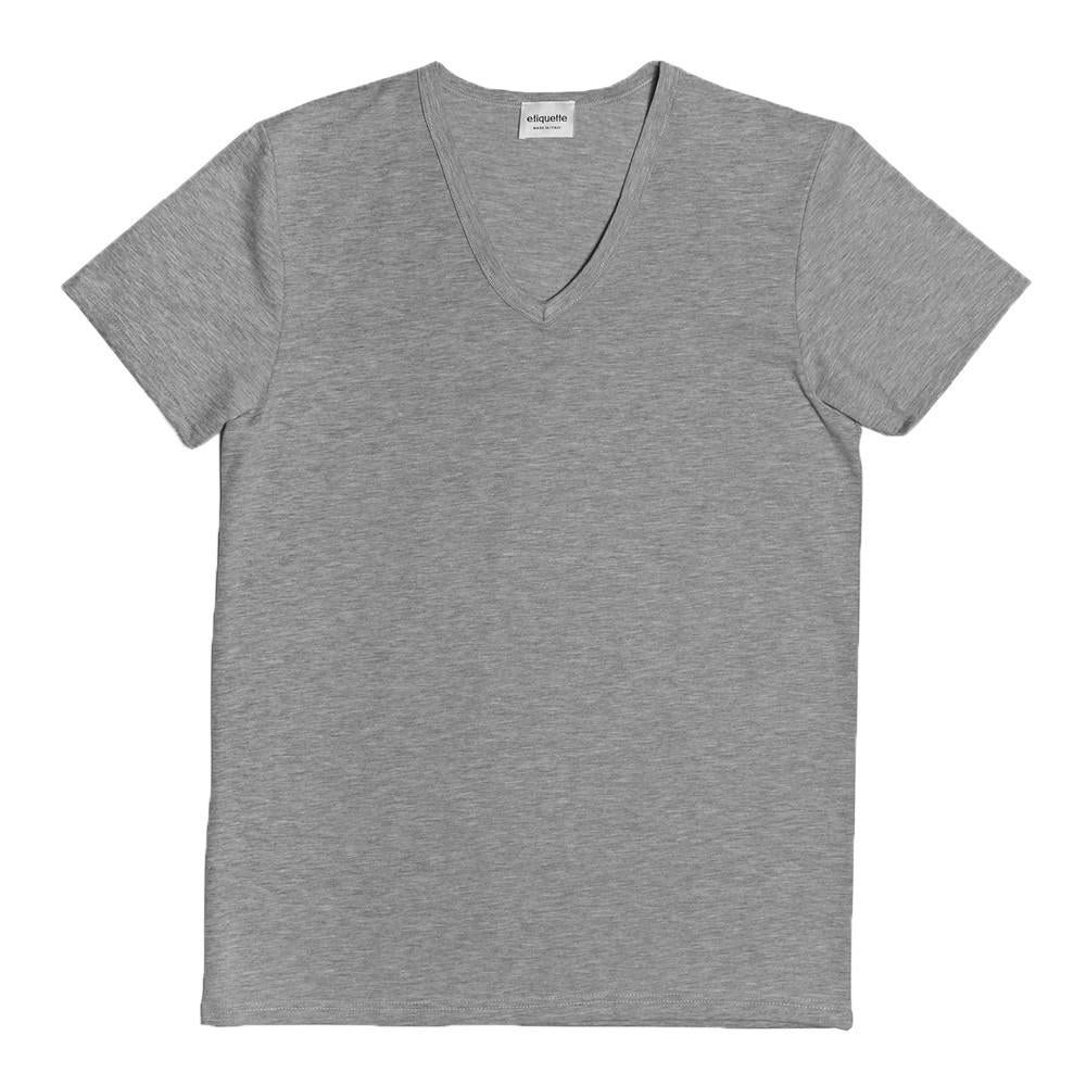 Mulberry V Neck - Steel Grey - Underwear - Etiquette - Etiquette Clothiers NA