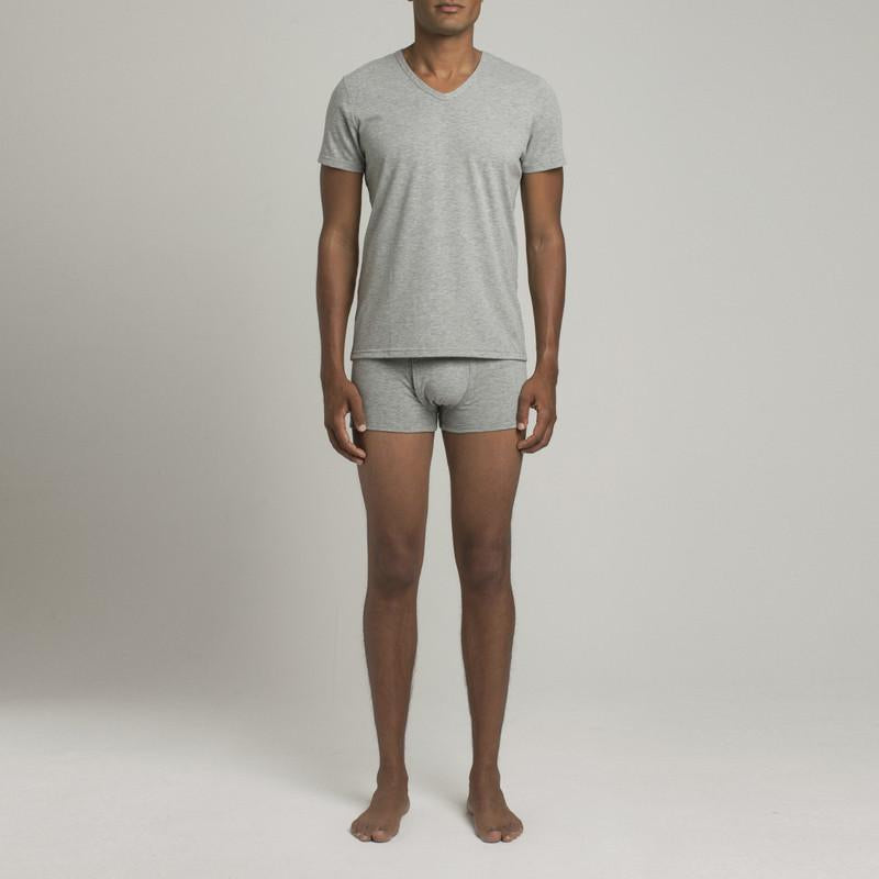 Mulberry V Neck - Steel Grey