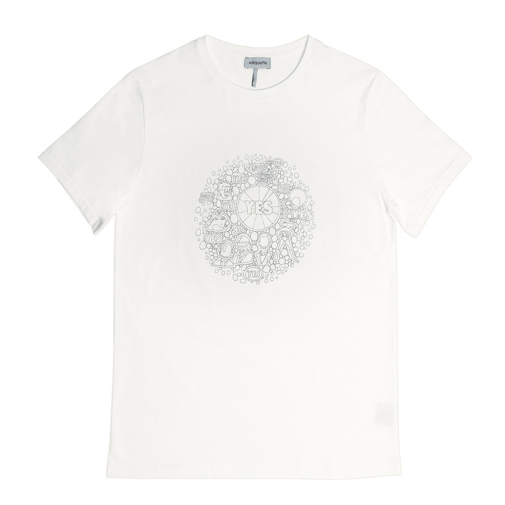 Bedford Crew Neck T  'Yes' - White