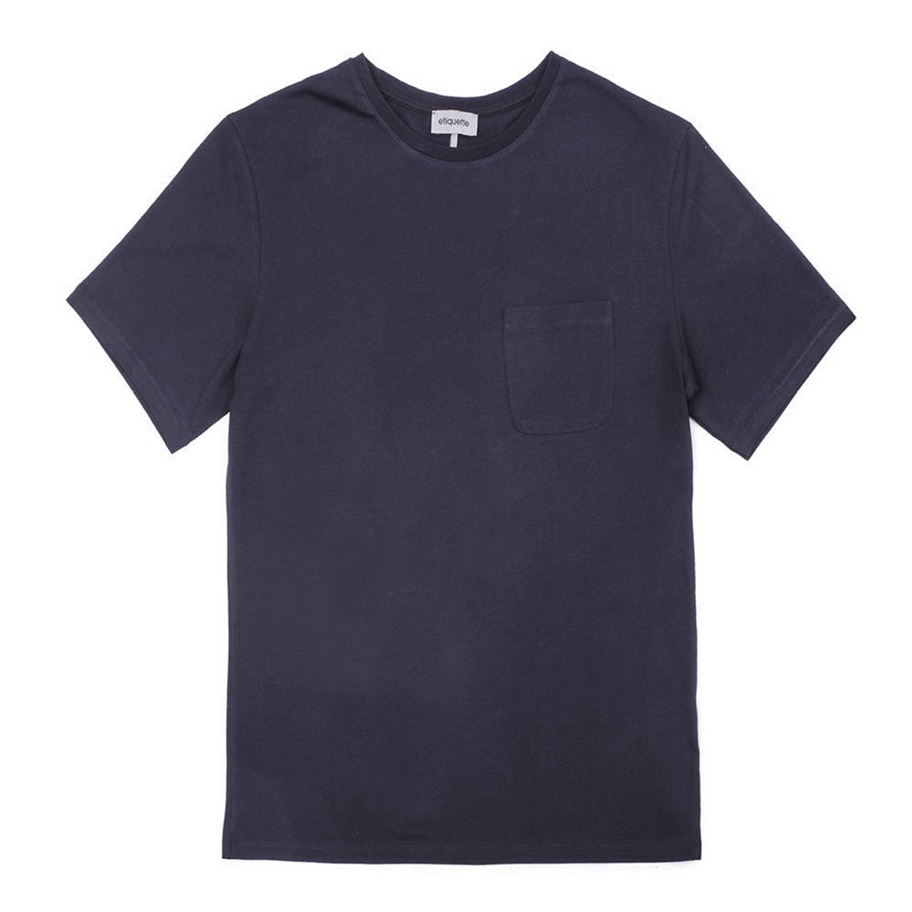 Bedford Pocket Crew Neck T - Navy