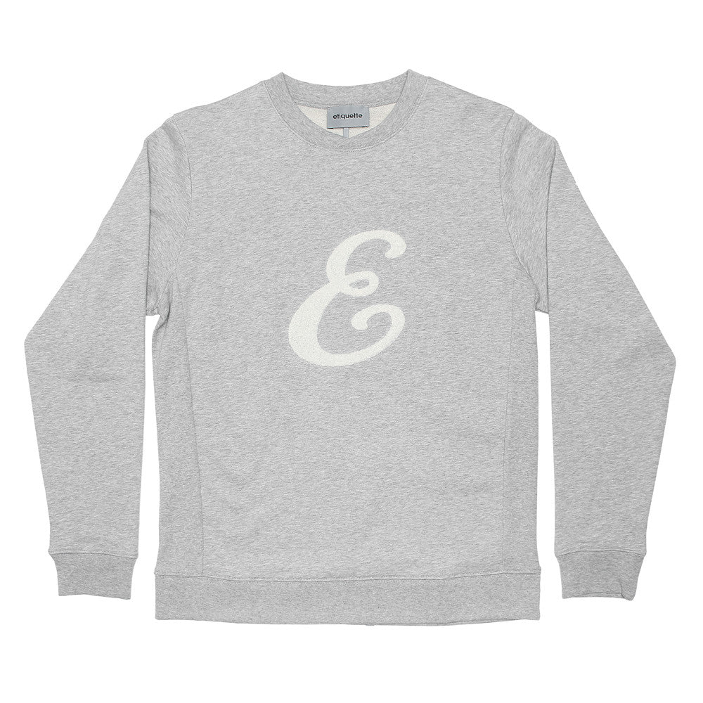 "Washington Sweatshirt ""E"" - Grey Melange - Loungewear - Etiquette - Etiquette Clothiers NA"