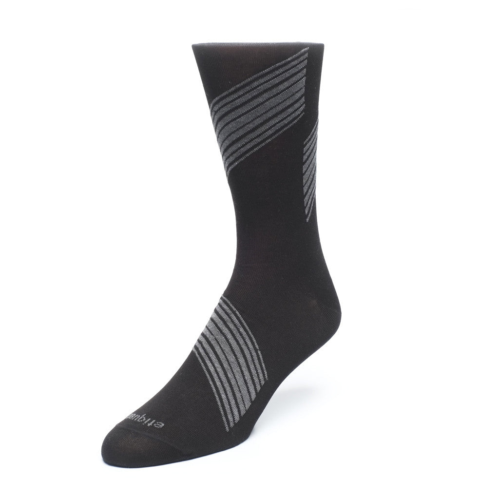 Shanghai Stripes - Black - Socks - Etiquette - Etiquette Clothiers NA