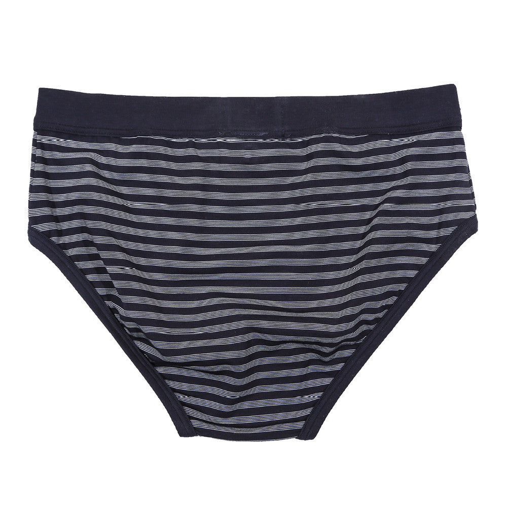 Prince Brief - Navy/Grey Stripe