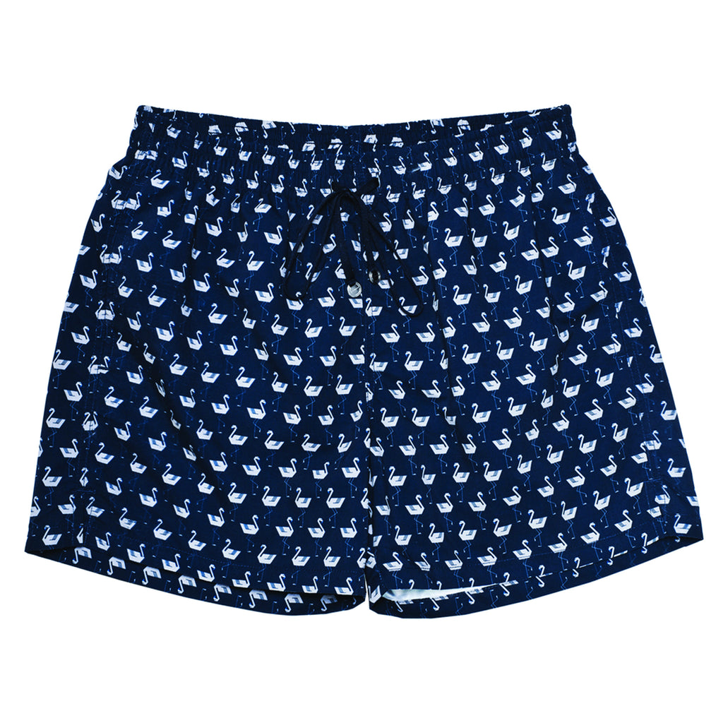 The Corsaro Flamingo - Dark Blue - Swimwear - Etiquette - Etiquette Clothiers NA