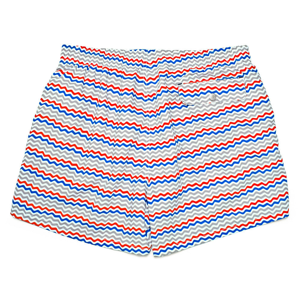 The Corsaro Swim Trunk Wave - Grey - Swimwear - Etiquette - Etiquette Clothiers NA