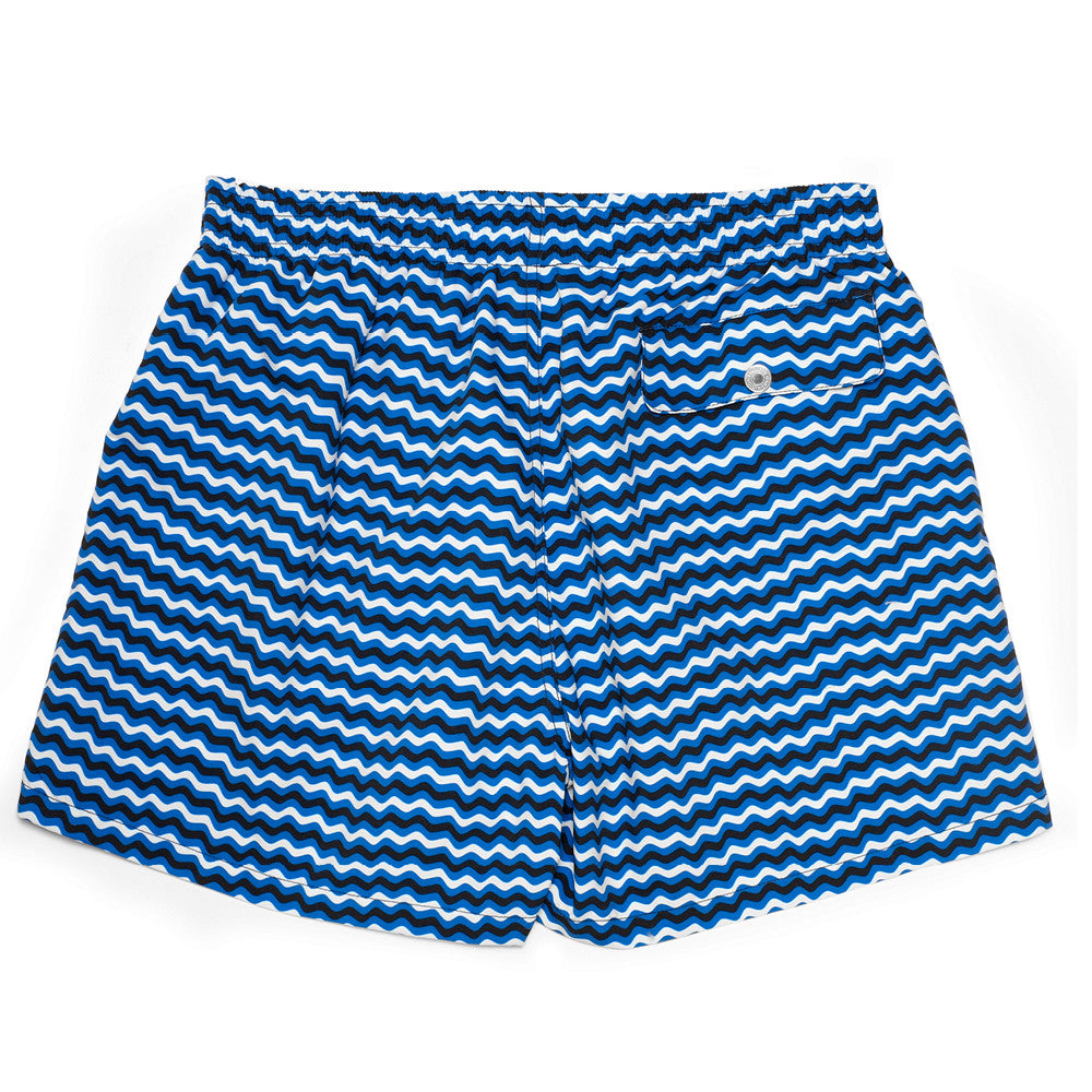 The Corsaro Swim Trunk Wave - Dark Blue - Swimwear - Etiquette - Etiquette Clothiers NA
