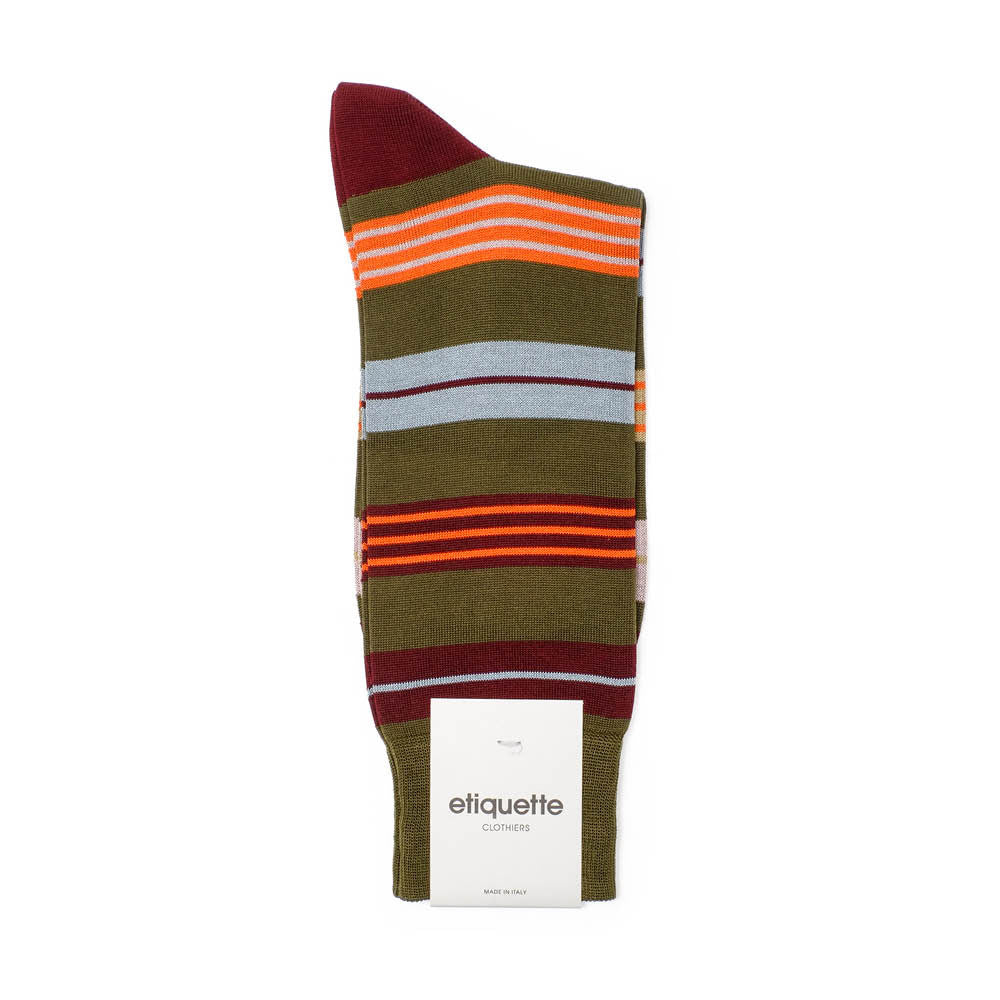 Amsterdam Stripes - Mushroom - Socks - Etiquette - Etiquette Clothiers NA