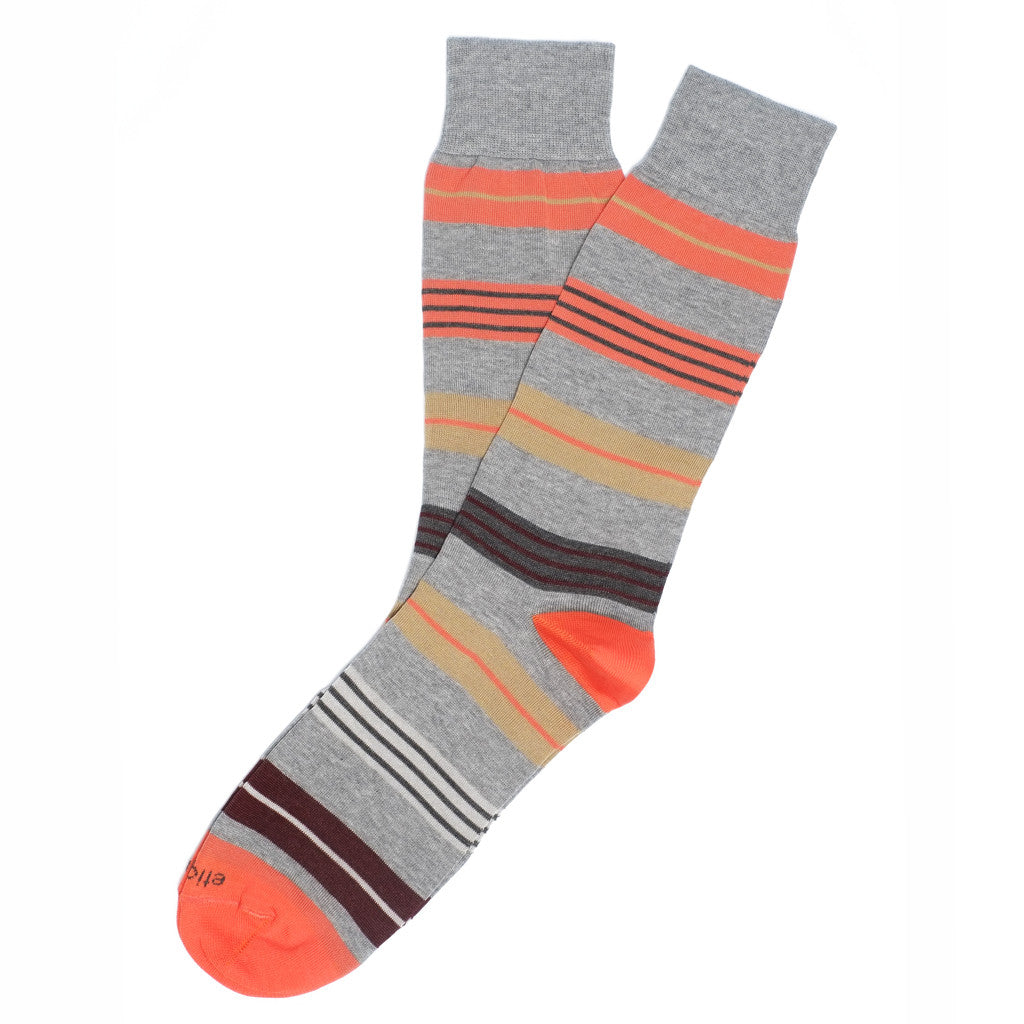 Amsterdam Stripes - Grey - Socks - Etiquette - Etiquette Clothiers NA