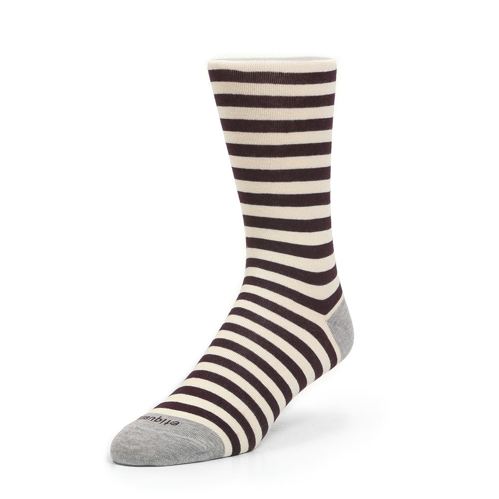 Abbey Stripes - Bordeaux - Socks - Etiquette - Etiquette Clothiers NA