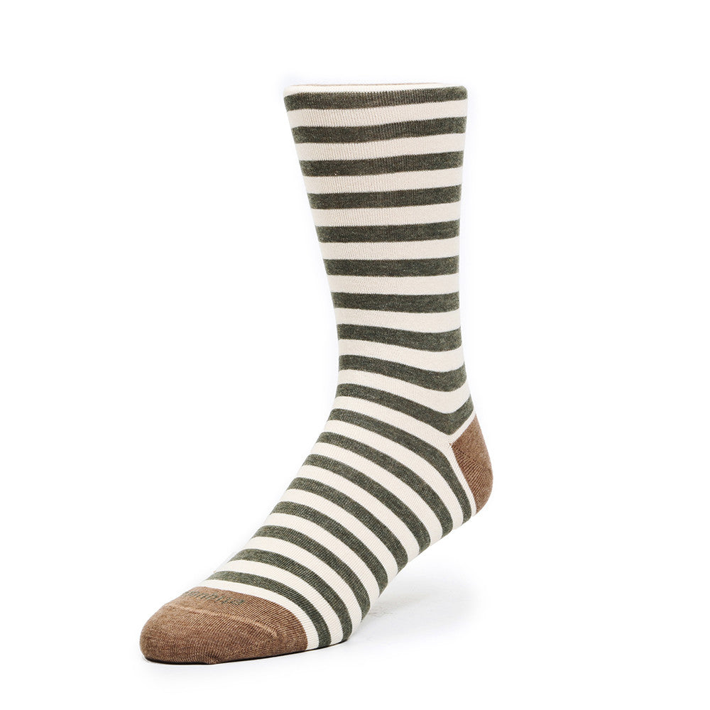 Abbey Stripes - Vintage Green - Socks - Etiquette - Etiquette Clothiers NA