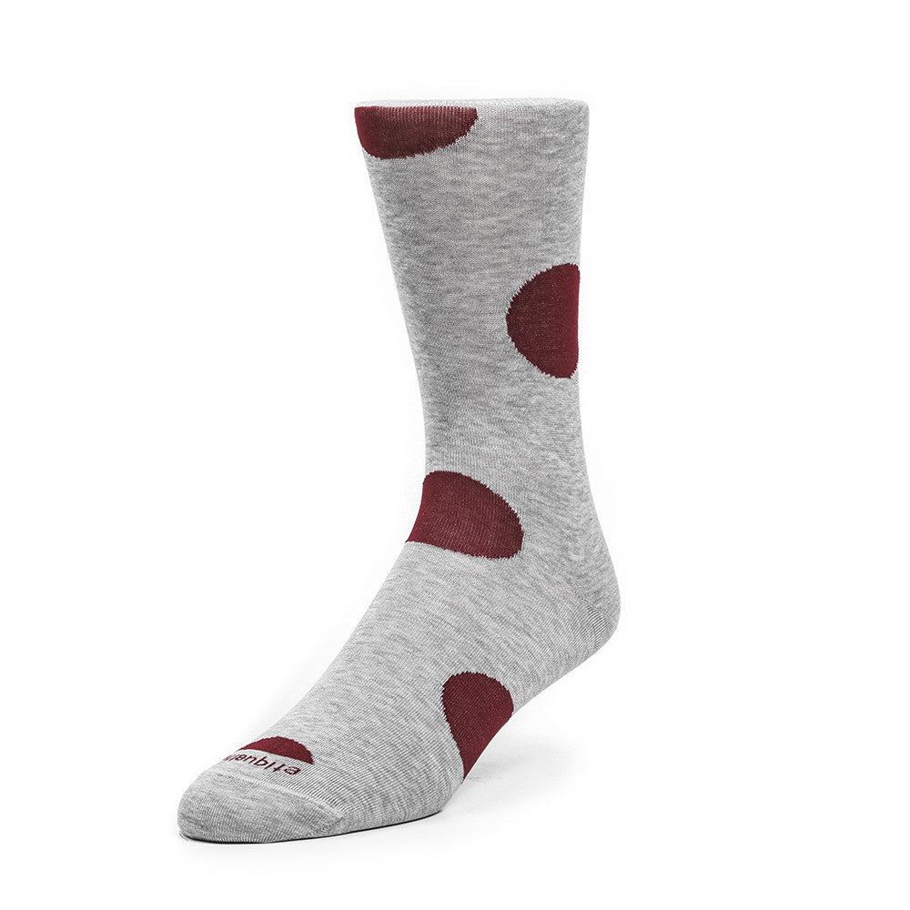 Big Dot - Bordeaux - Socks - Etiquette - Etiquette Clothiers NA