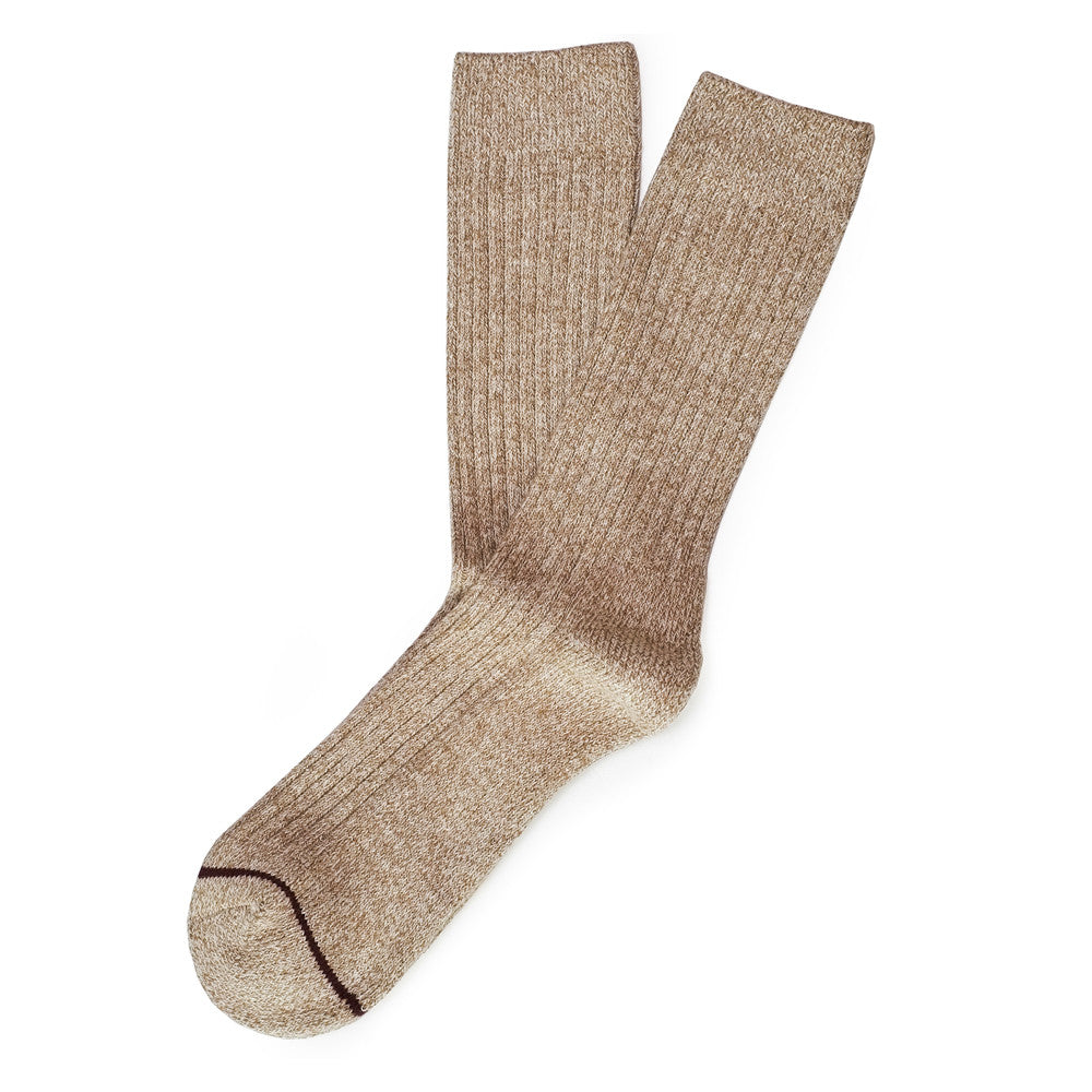 Get The Boot Socks - Twisted Brown Heather - Socks - Etiquette - Etiquette Clothiers NA