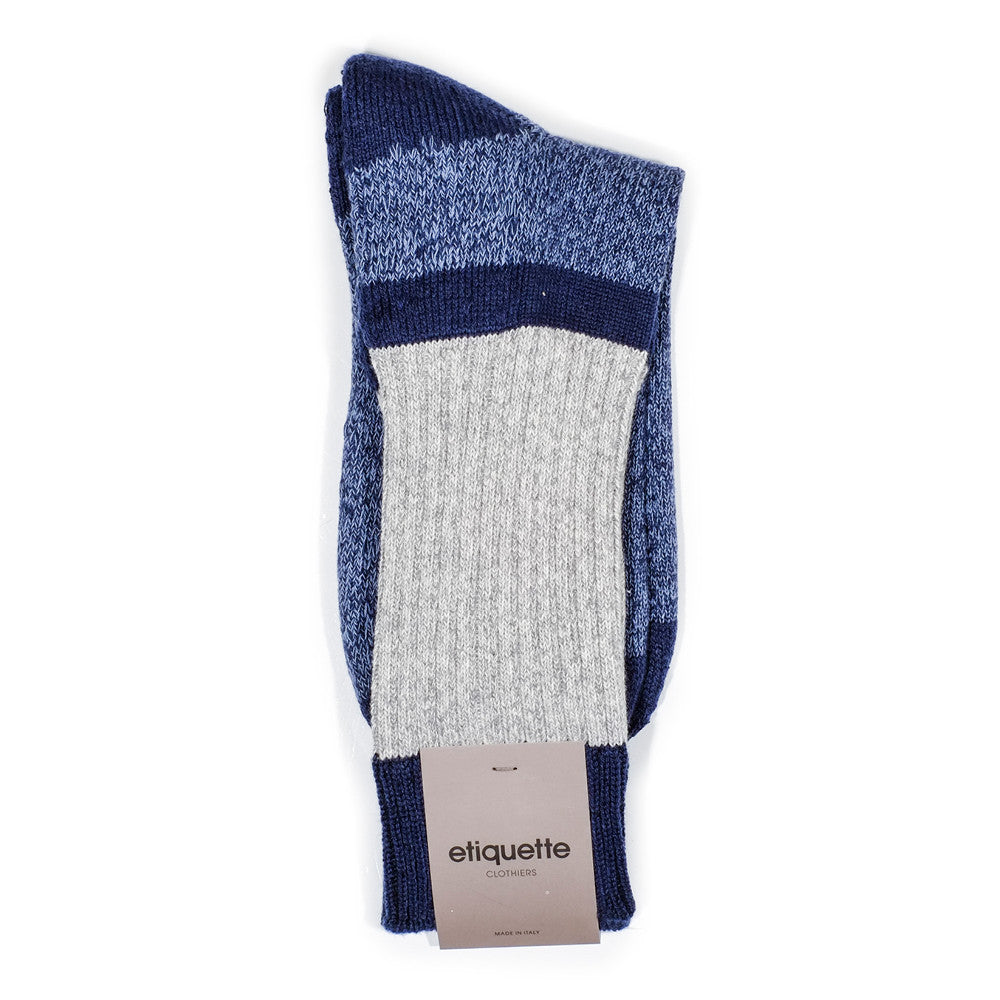 Get The Boot Duo Socks - Navy - Socks - Etiquette - Etiquette Clothiers NA
