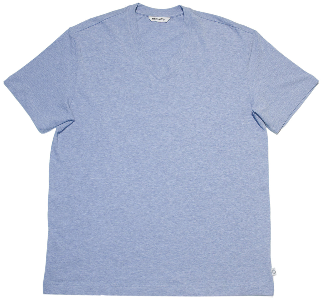 Organic Classic V Neck - Light Blue - Underwear - EtiquetteSale - Etiquette Clothiers NA