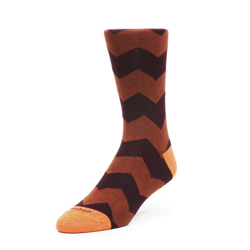 Everest Stripes - Rust - Socks - EtiquetteSale - Etiquette Clothiers NA