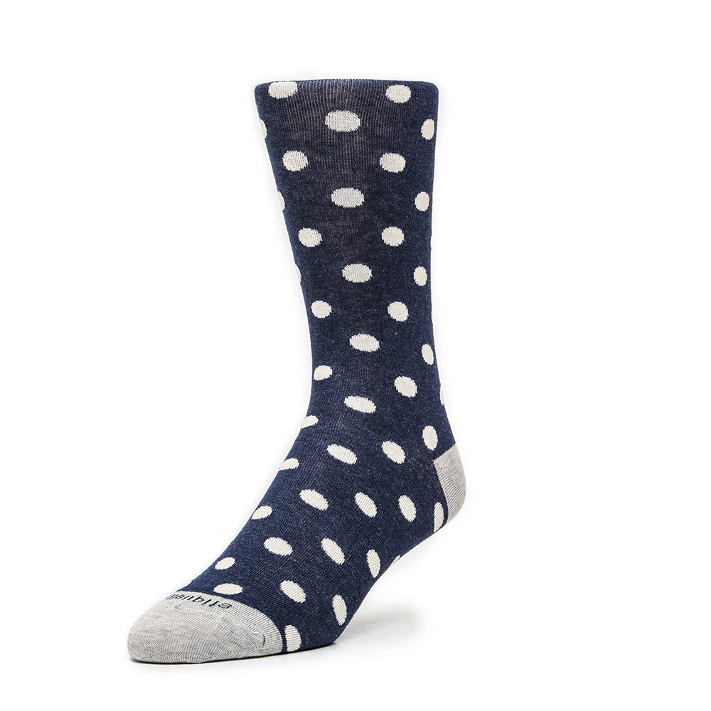 Polka Dots - Vintage Blue Heather