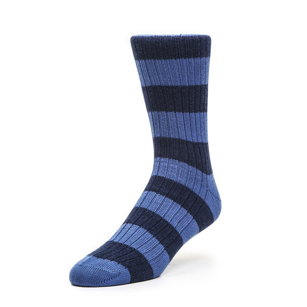 Preppy Stripes - Royal Blue & Indigo - Socks - Etiquette - Etiquette Clothiers NA