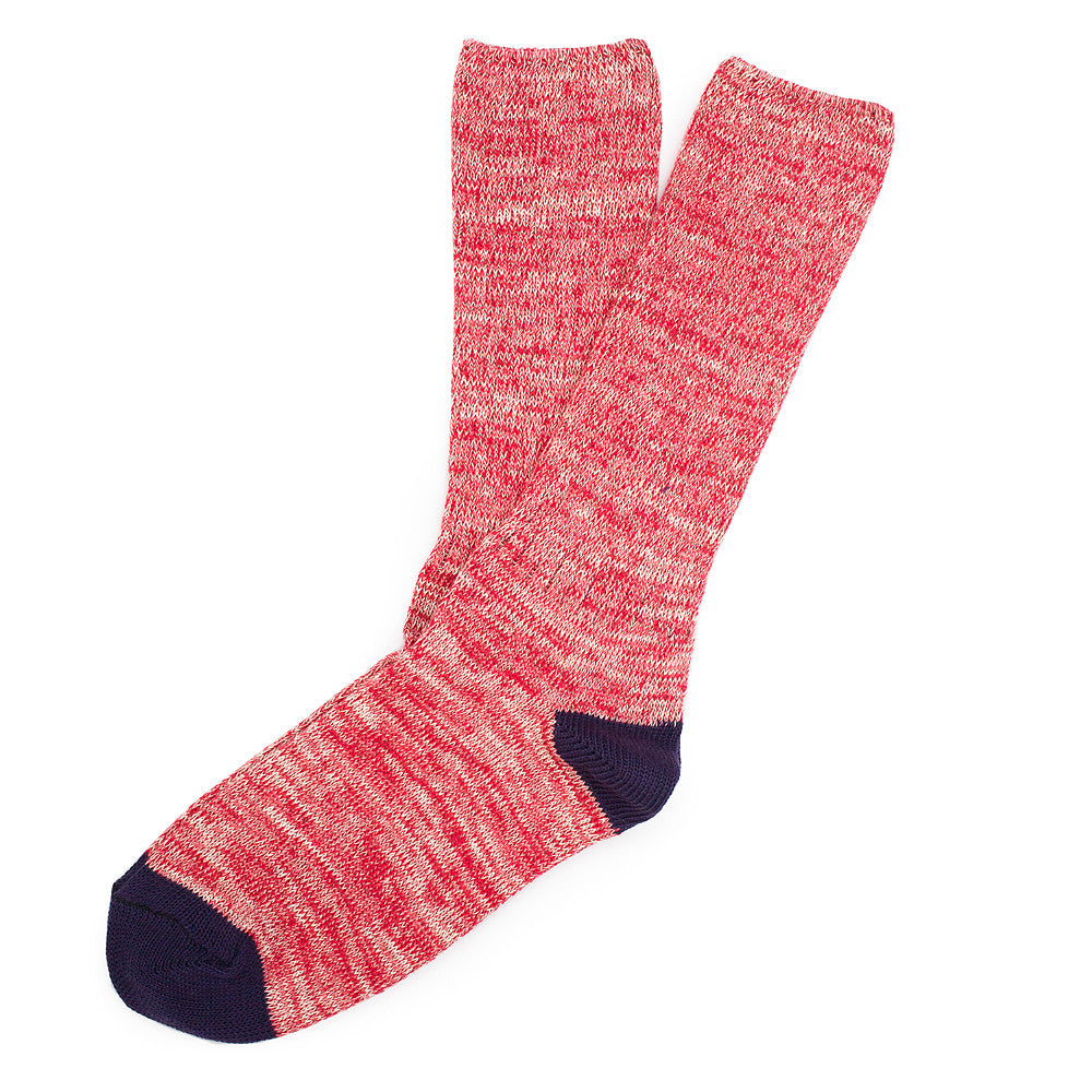 Roppongi Socks - Twisted Red - Socks - Etiquette - Etiquette Clothiers NA