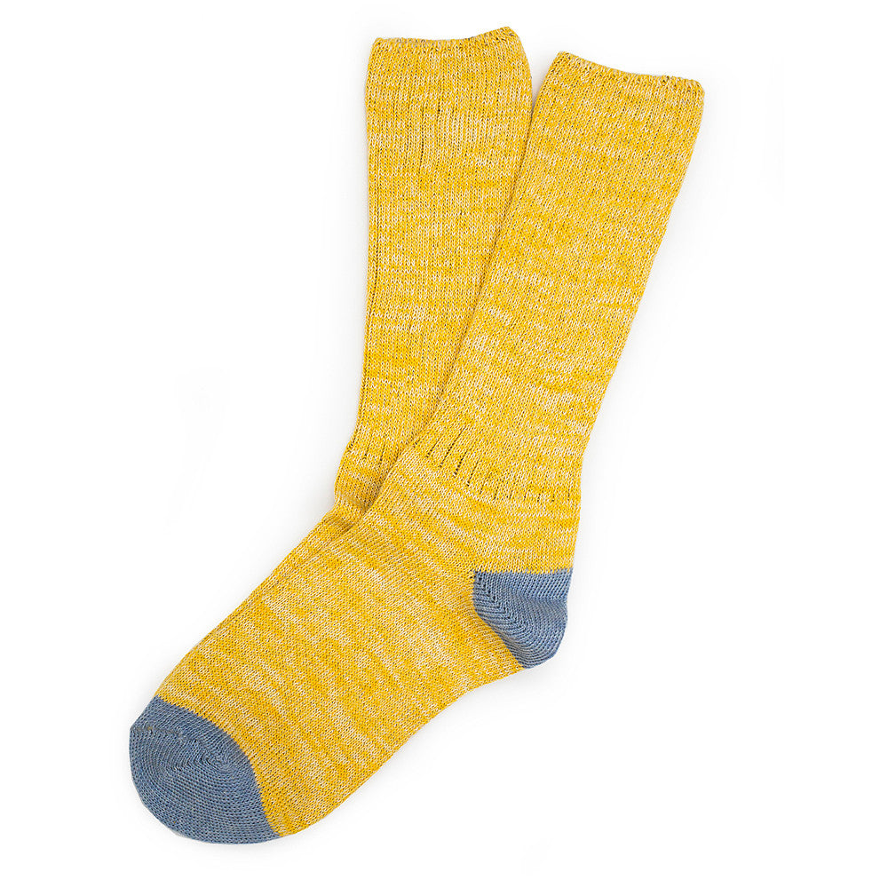 Roppongi Socks - Twisted Yellow - Socks - Etiquette - Etiquette Clothiers NA