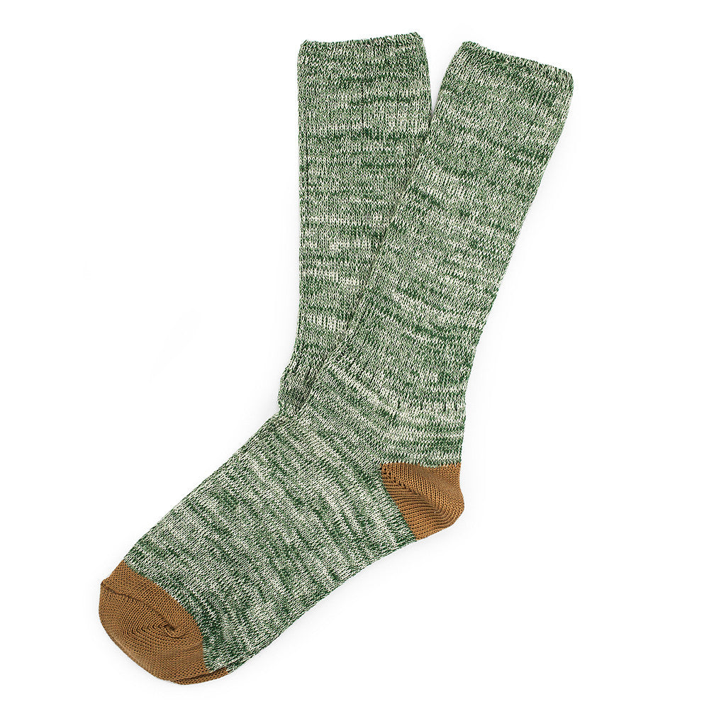 Roppongi Socks - Twisted Green - Socks - Etiquette - Etiquette Clothiers NA