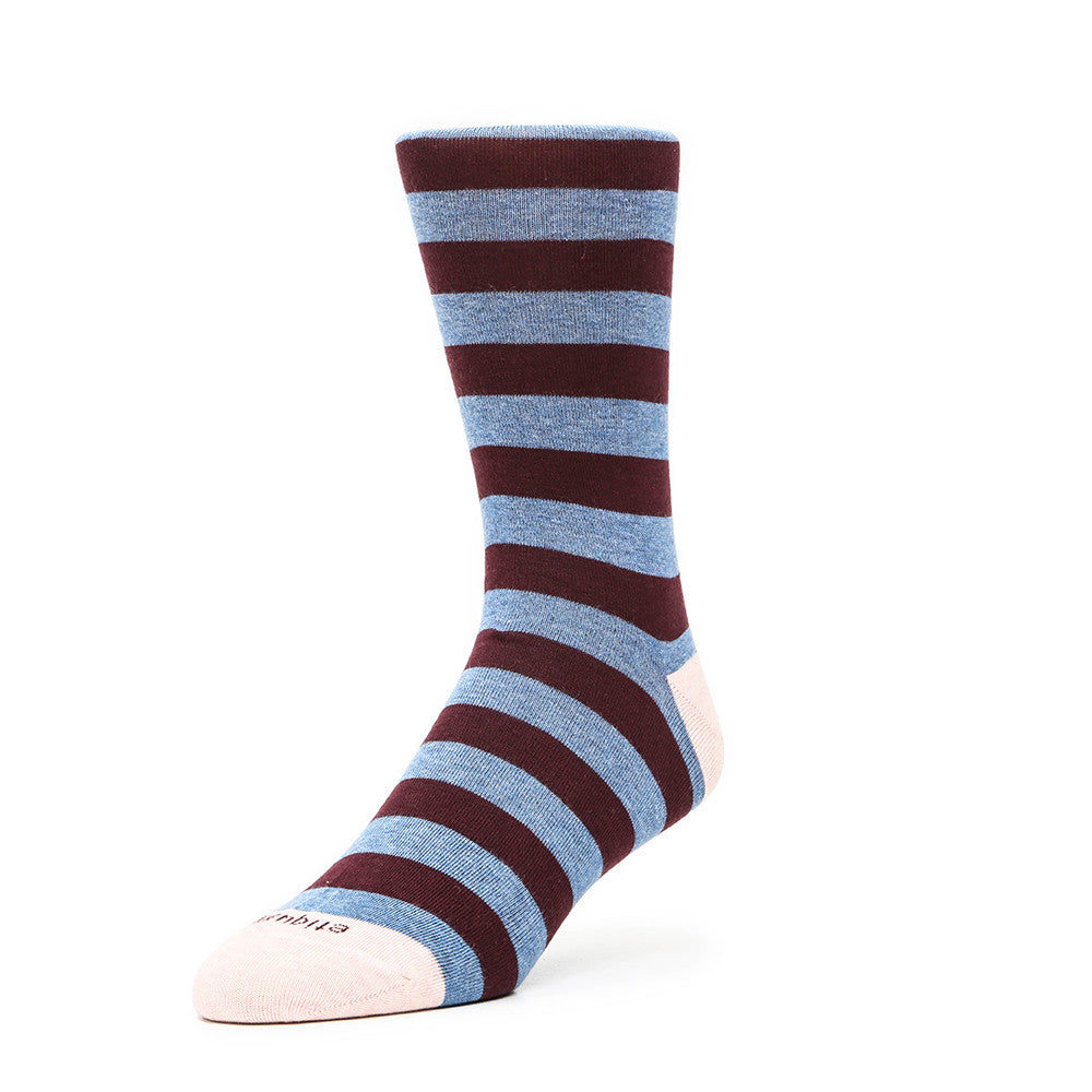 Rugby Stripes - Everest Heather - Socks - Etiquette - Etiquette Clothiers NA