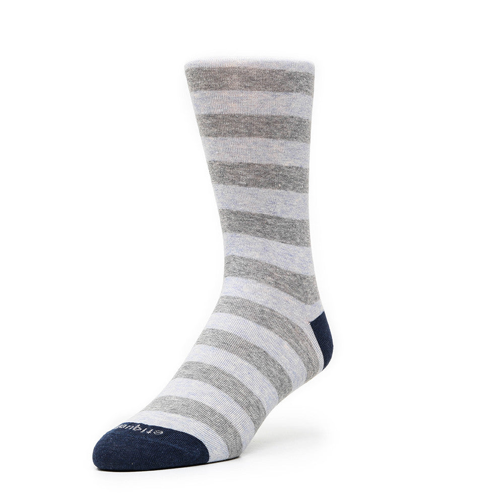 Rugby Stripes - Sky Blue - Socks - EtiquetteSale - Etiquette Clothiers NA