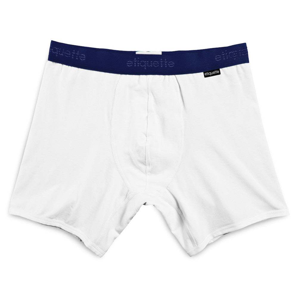 Sports Boxer Brief - White - Underwear - EtiquetteSale - Etiquette Clothiers NA