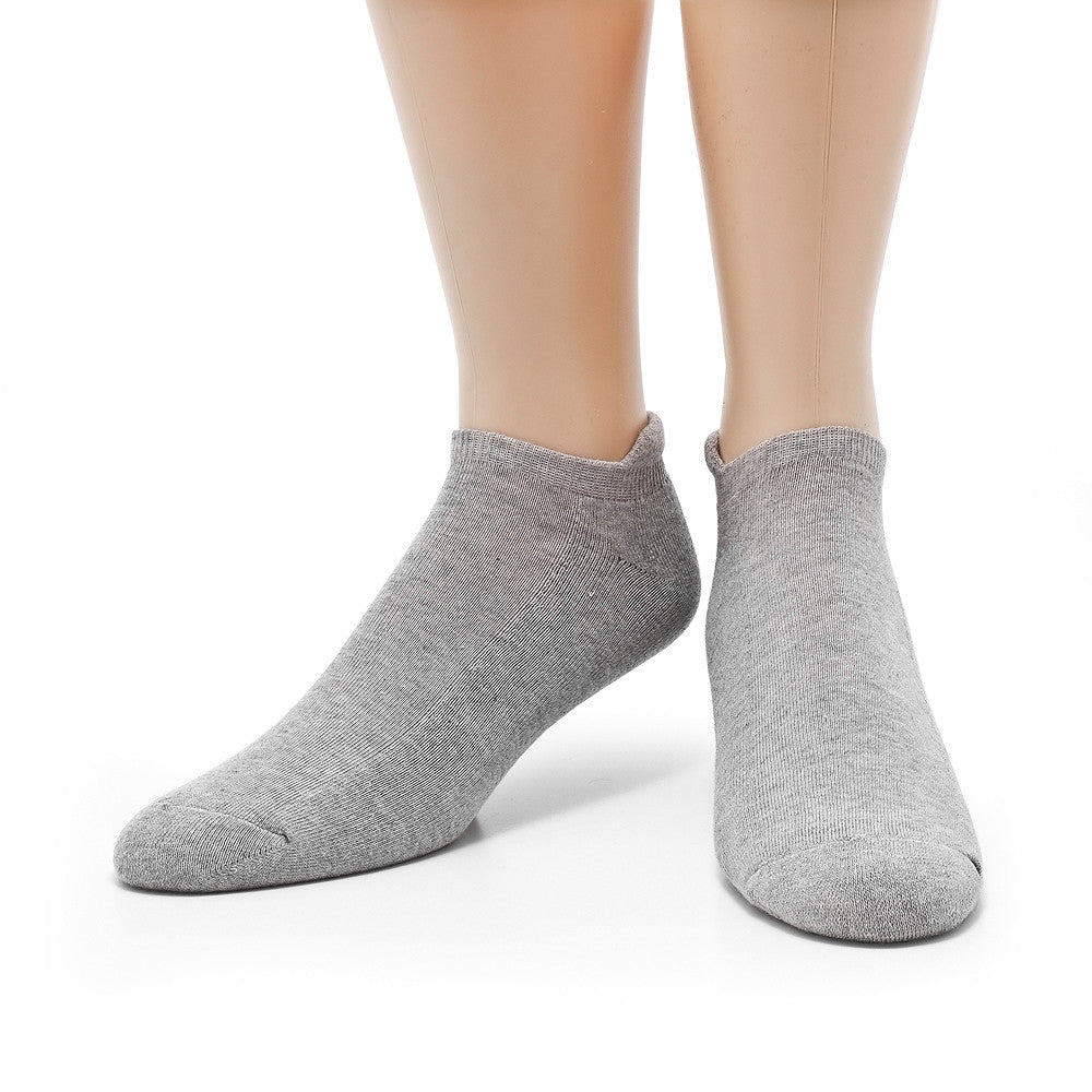 Sports Ankle - Grey Heather - Socks - Etiquette - Etiquette Clothiers NA
