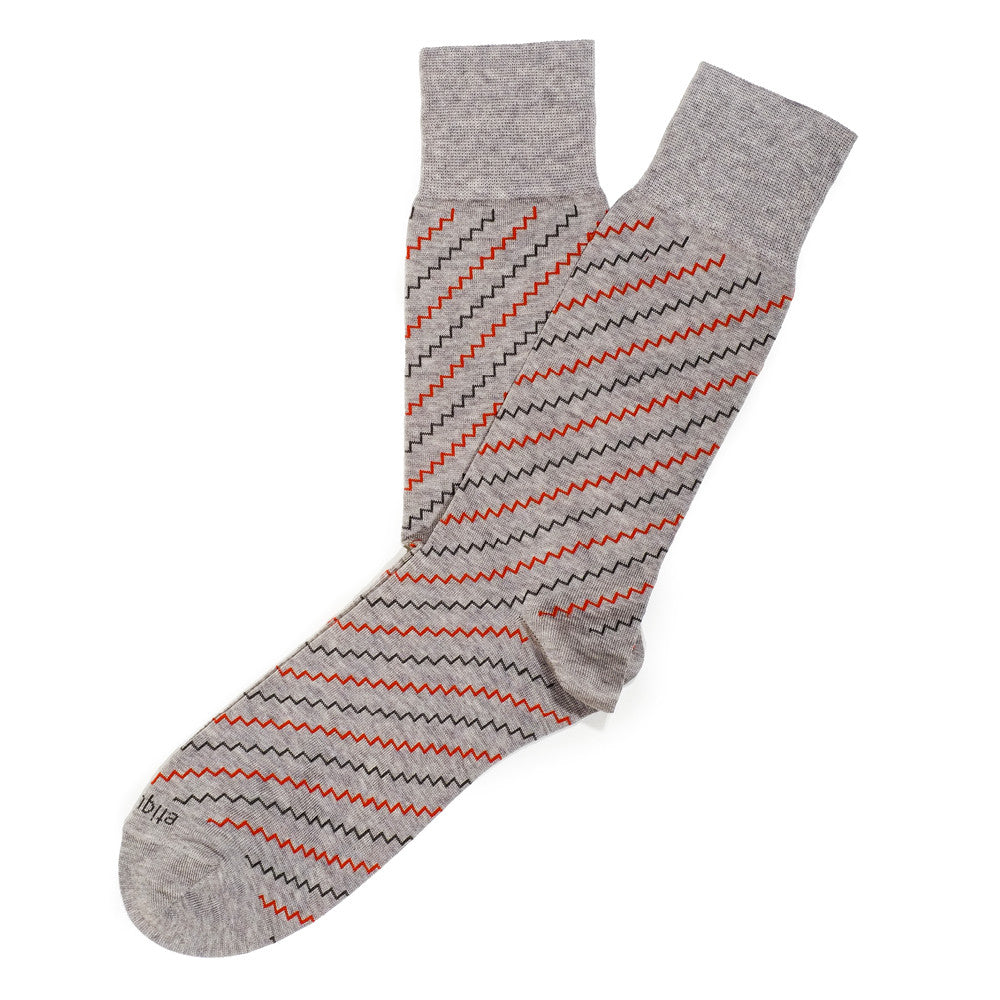 Step It Up - Grey / Orange - Socks - Etiquette - Etiquette Clothiers NA