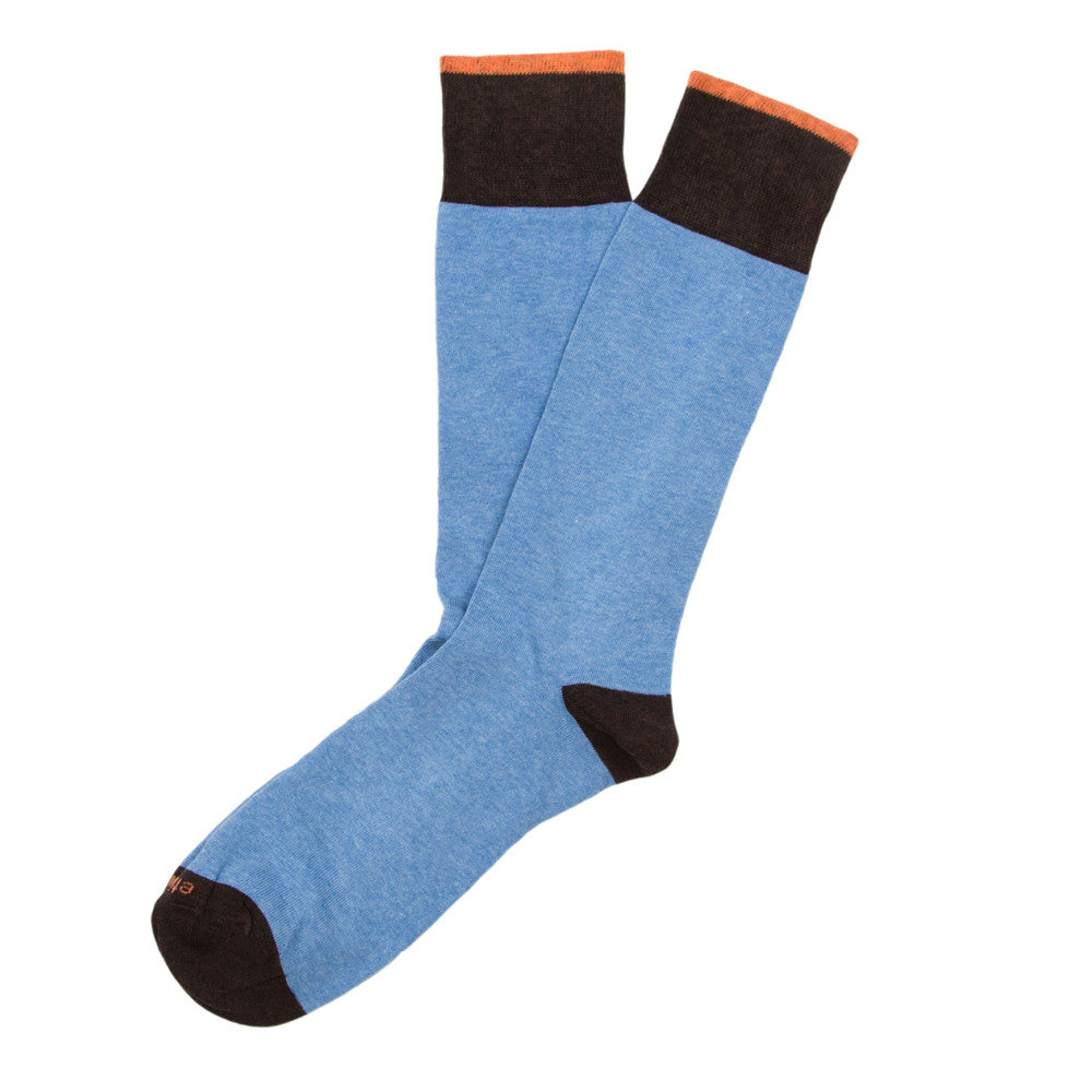 Tri Pop - Everest Blue - Socks - Etiquette - Etiquette Clothiers NA