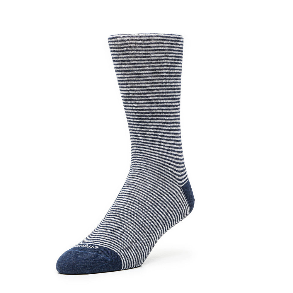 Thousand Stripes - Vintage Grey - Socks - Etiquette - Etiquette Clothiers NA