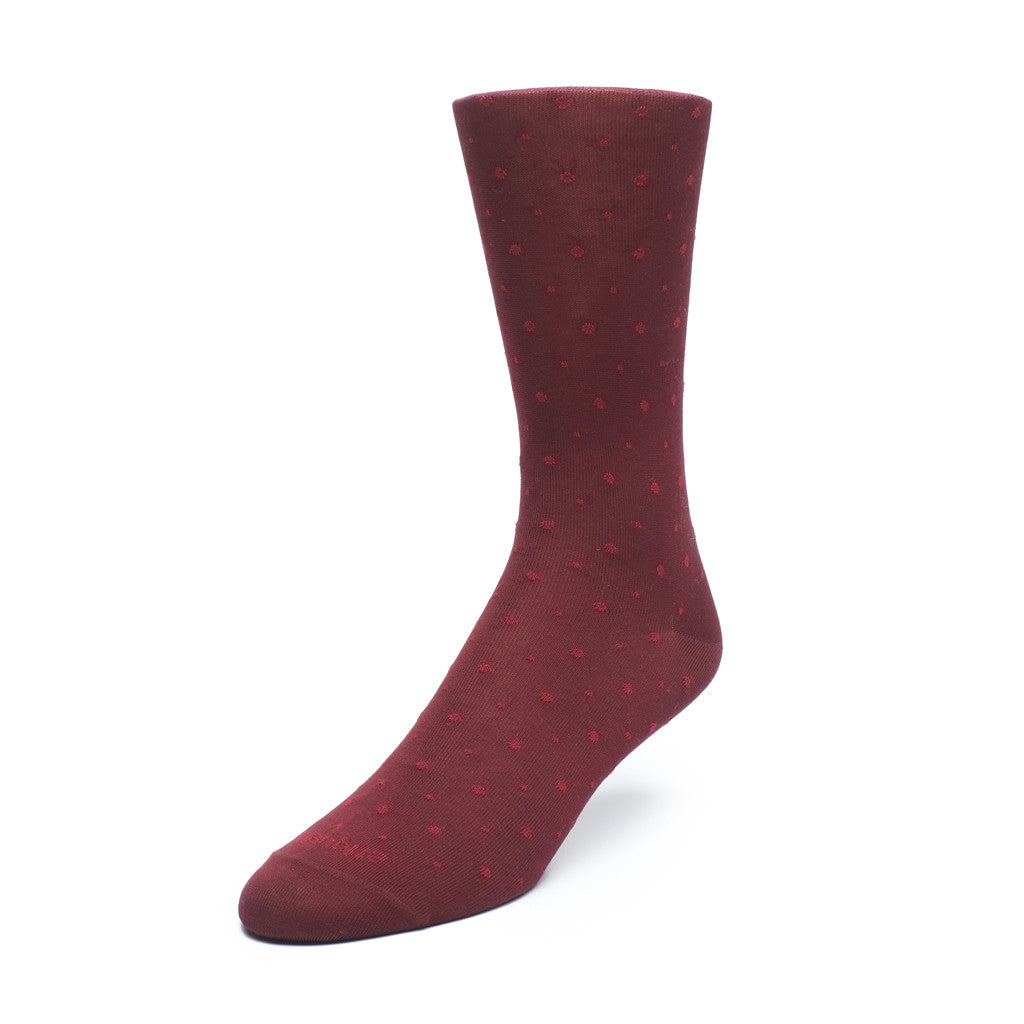 Ball Point - Bordeaux - Socks - Etiquette - Etiquette Clothiers NA